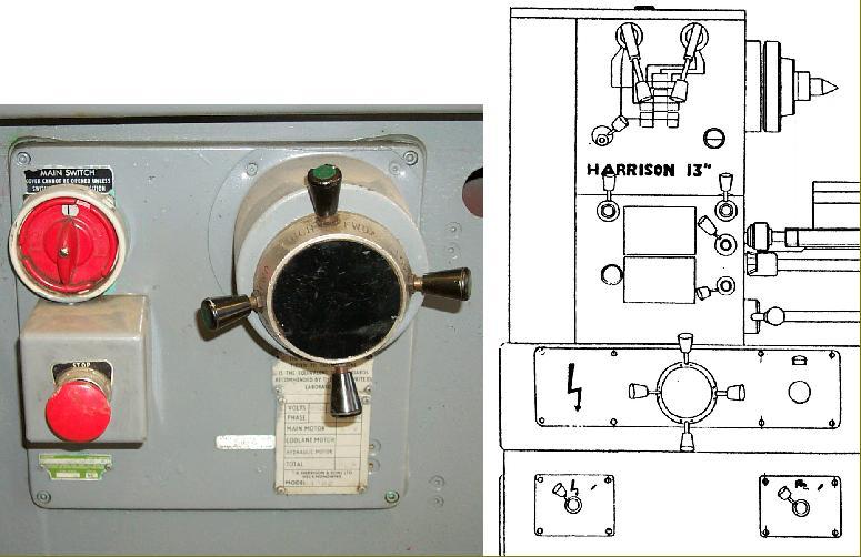 4-spoke capstan-handle rotary switch arrangements