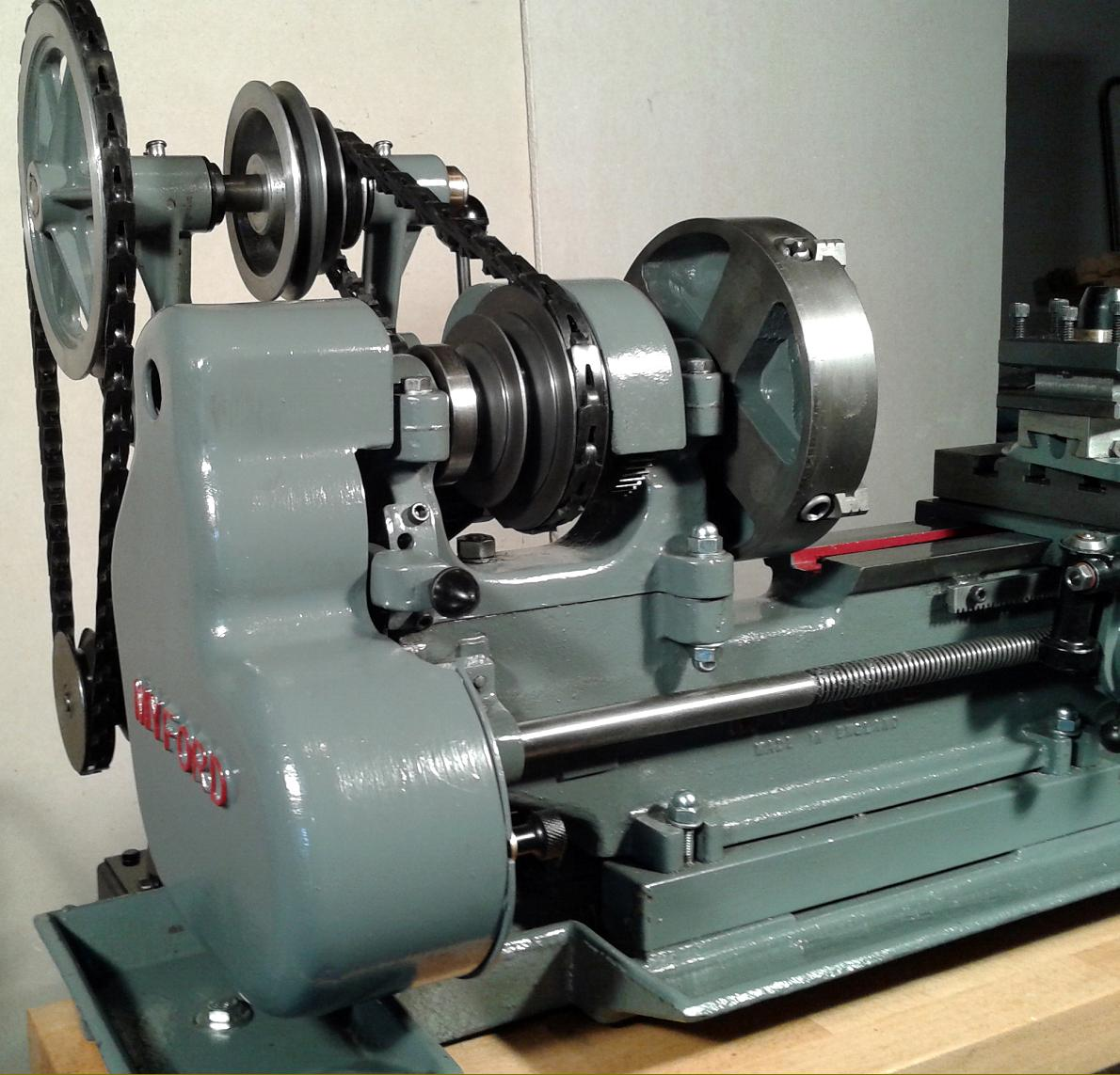 Myford ML2 Lathe rebuilt with ML7 components