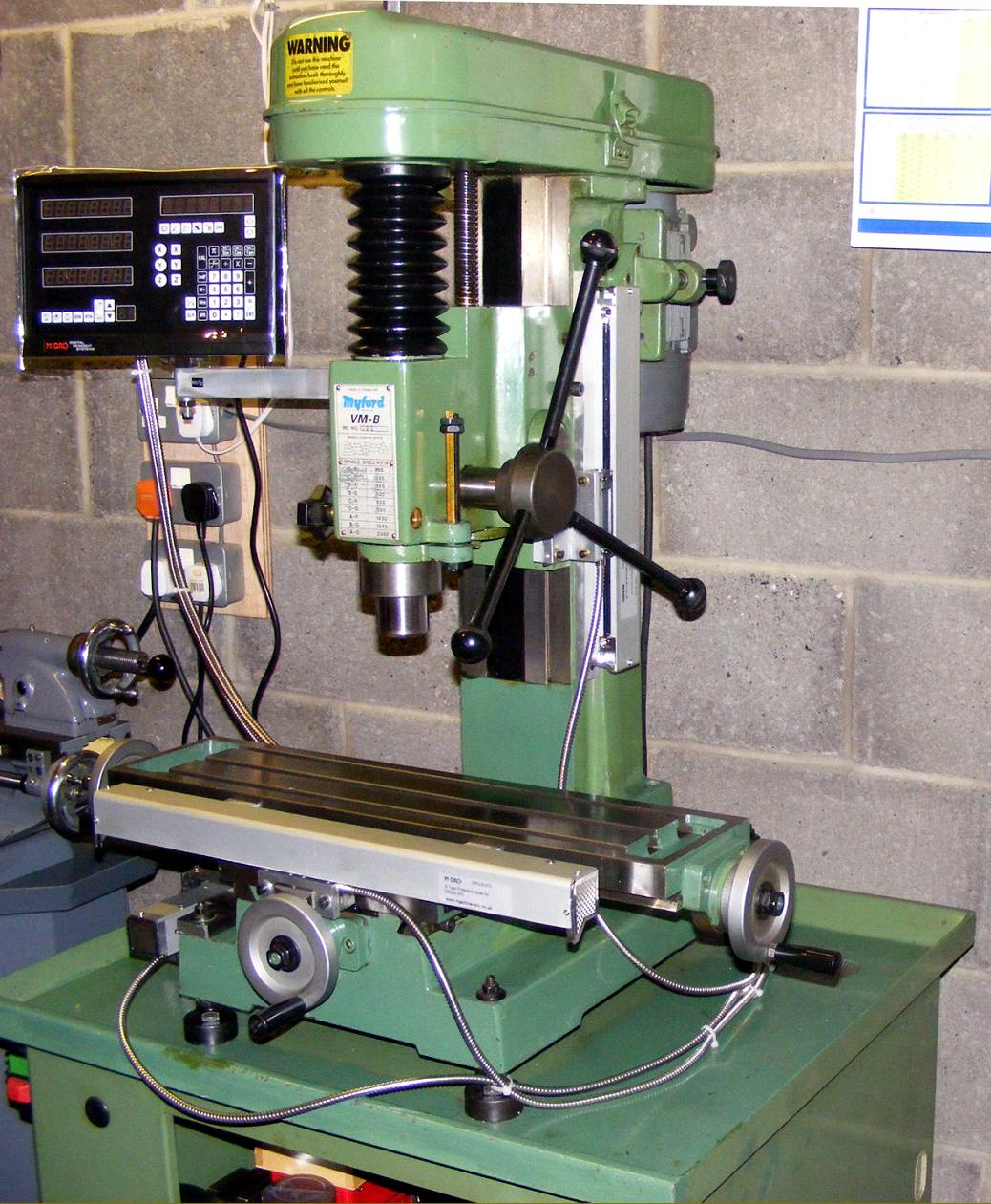 Myford Milling Machines