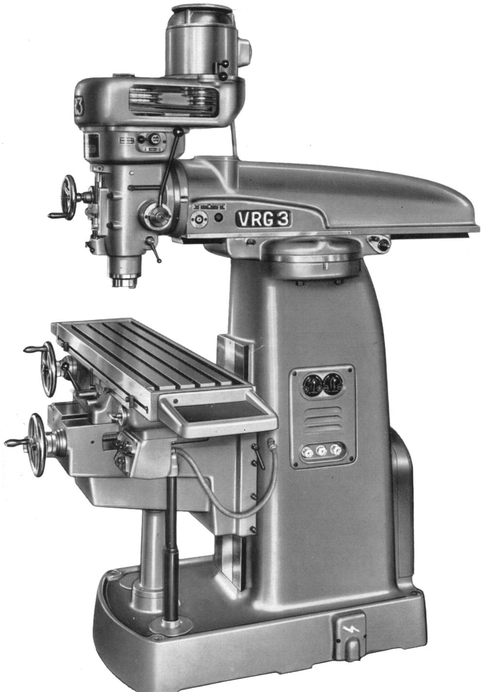 Conventional Milling Machine : Diagram of conventional milling machine drill