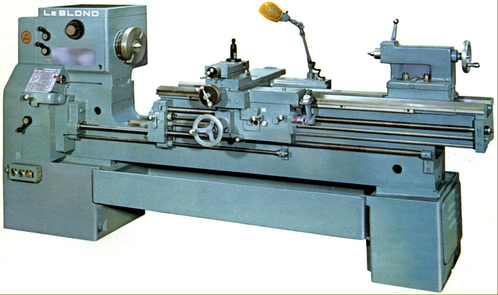 leblond regal lathes s to s late model long bed leblond regal 19 inch servo shift headstock and a central bed support