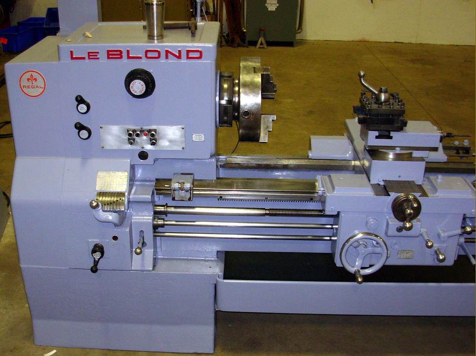 leblond regal lathes s to s the largest of the late type regal lathes a 24 inch servo shift model a centre height of just over 12 inches note the rack and pinion drive fitted to