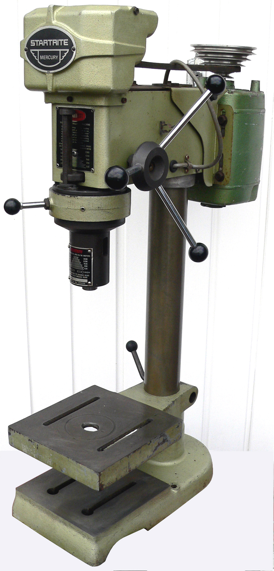 Spindle nose of the Startrite 8-speed epicyclic-geared Mercury drill